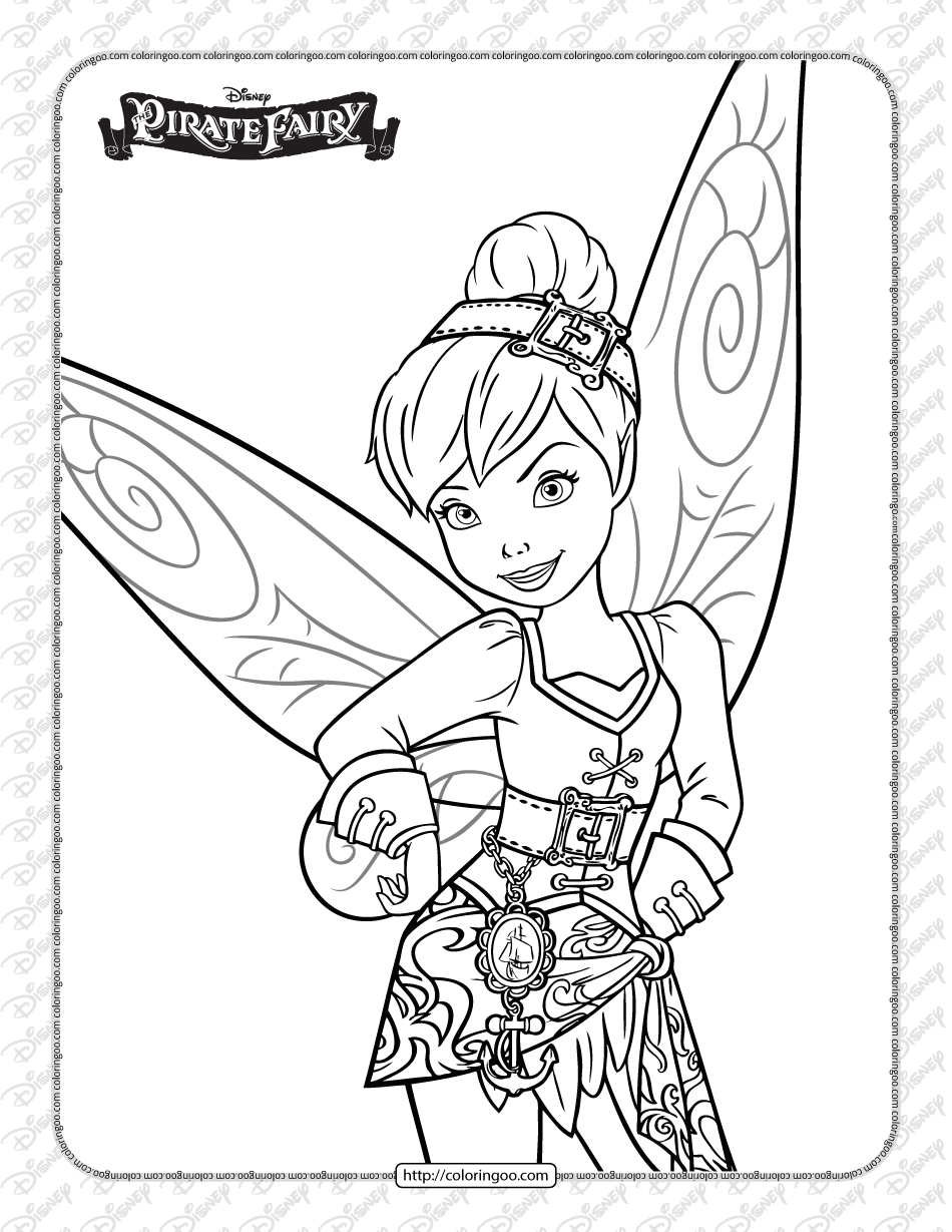 Printables Pirate Fairy Tinker Bell Coloring Page