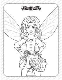 Printables Disney Pirate Fairy Zarina Coloring Page