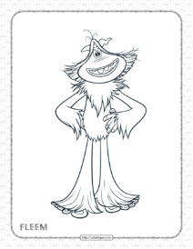 Printables Smallfoot Fleem Pdf Coloring Page