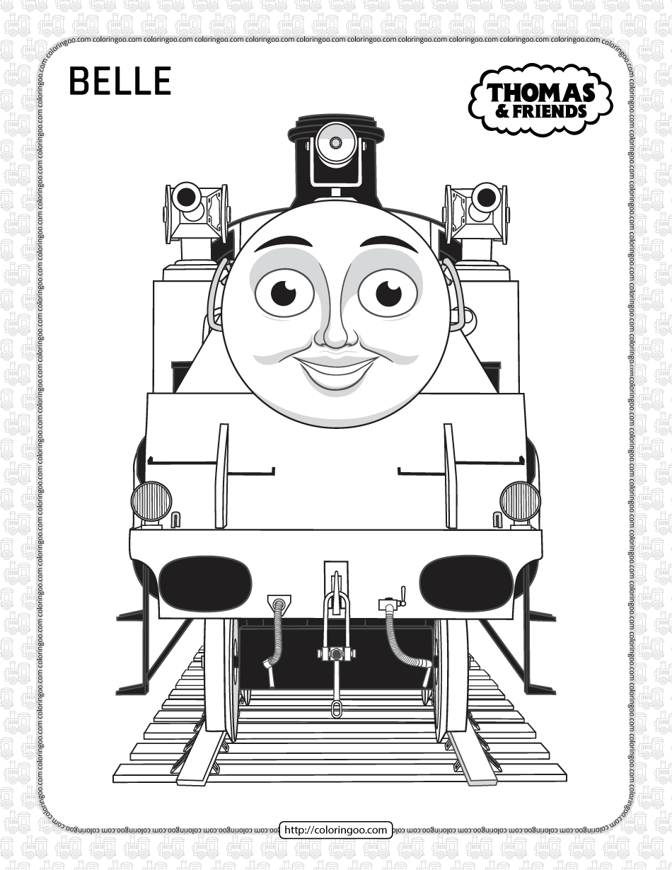 Printables Thomas and Friends Belle Coloring Page