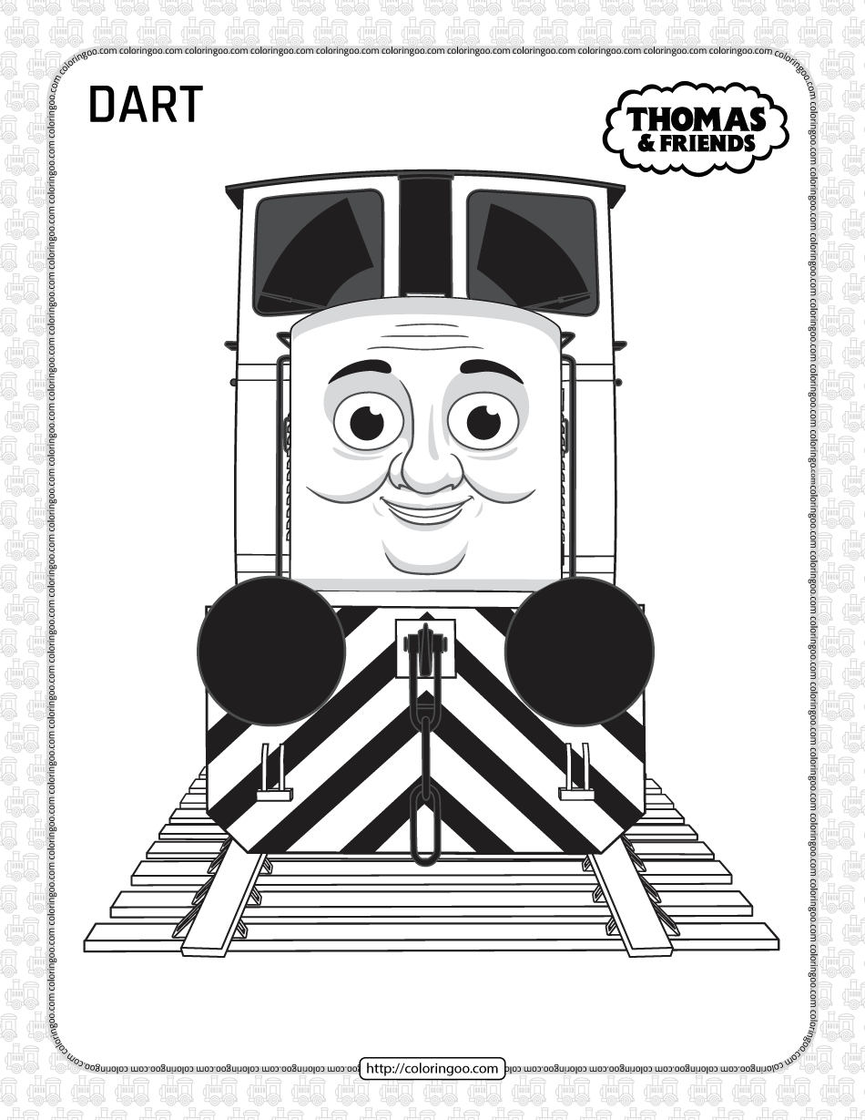 Printables Thomas and Friends Dart Coloring Page