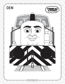 Printables Thomas and Friends Den Coloring Page