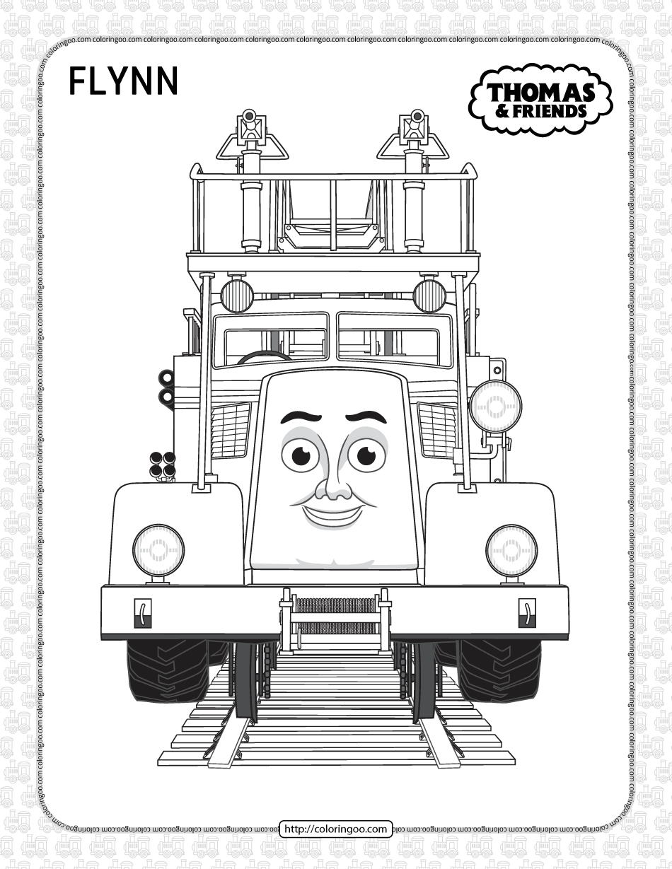Printables Thomas and Friends Flynn Coloring Page