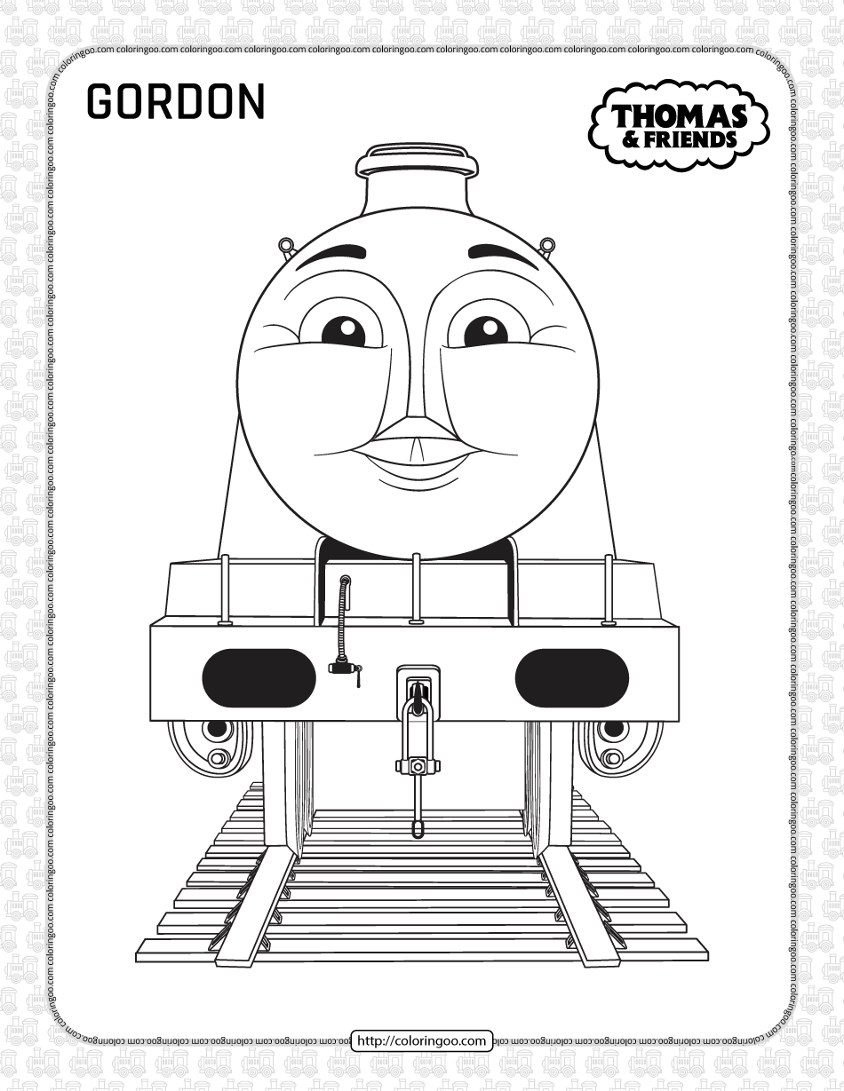 Printables Thomas and Friends Gordon Coloring Page