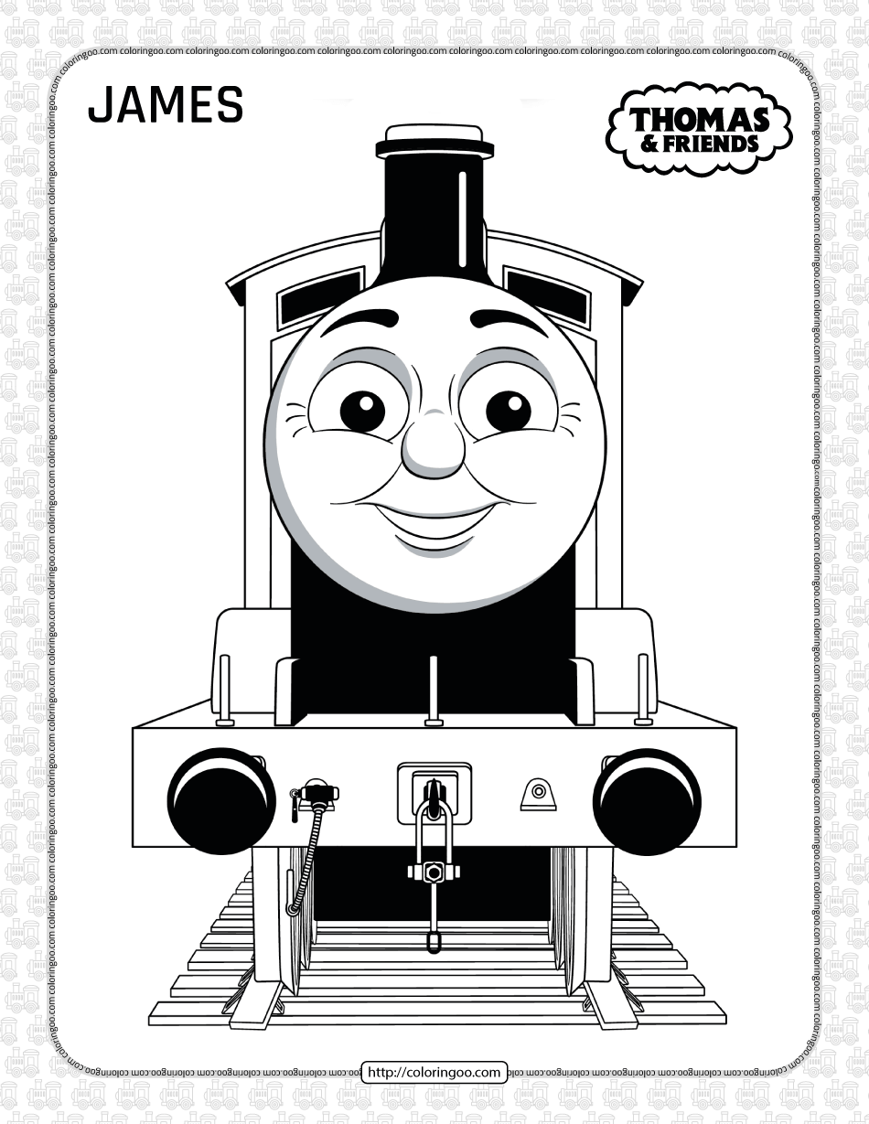 Printables Thomas and Friends James Coloring Page