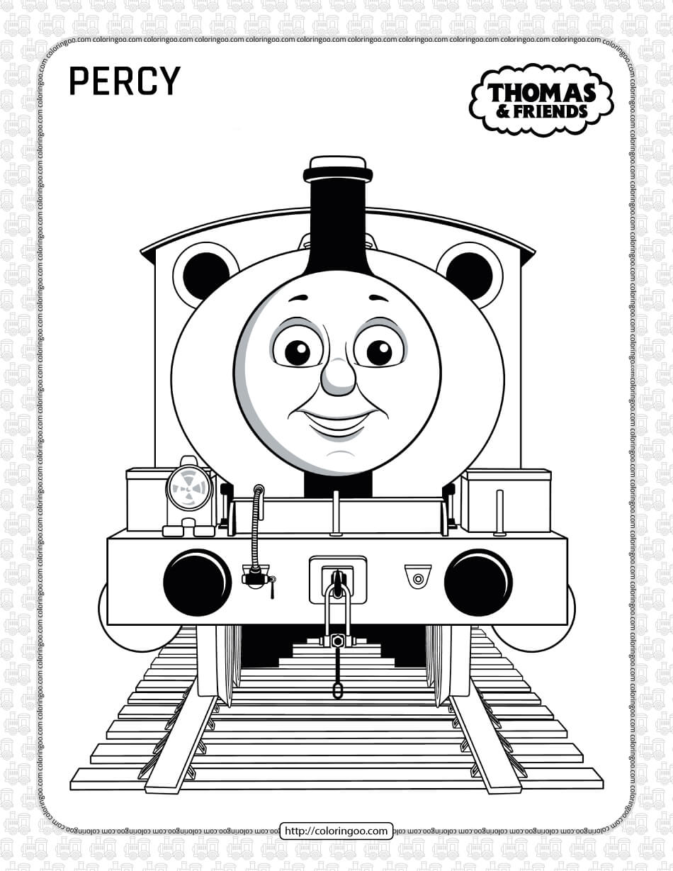 Printables Thomas and Friends Percy Coloring Page
