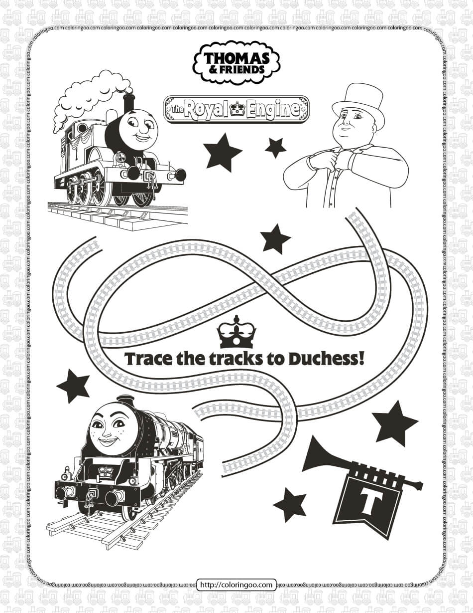 The Royal Engine Thomas and Friends Coloring Page
