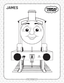 Thomas and Friends James Coloring Page for Kids