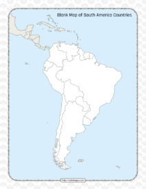 Blank Map of South America Countries Worksheet