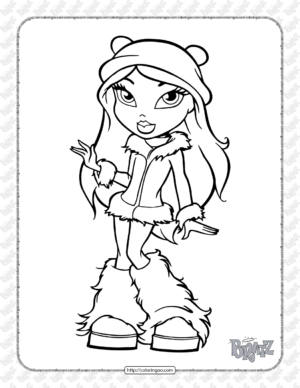 Free Printable Bratz Coloring Pages