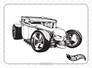 Free Printable Hot Wheels Coloring Page
