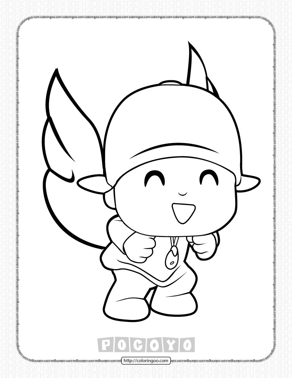 Free Printable Pocoyo Coloring Page for Kids