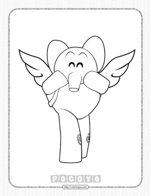 Free Printable Pocoyo Elly Coloring Pages