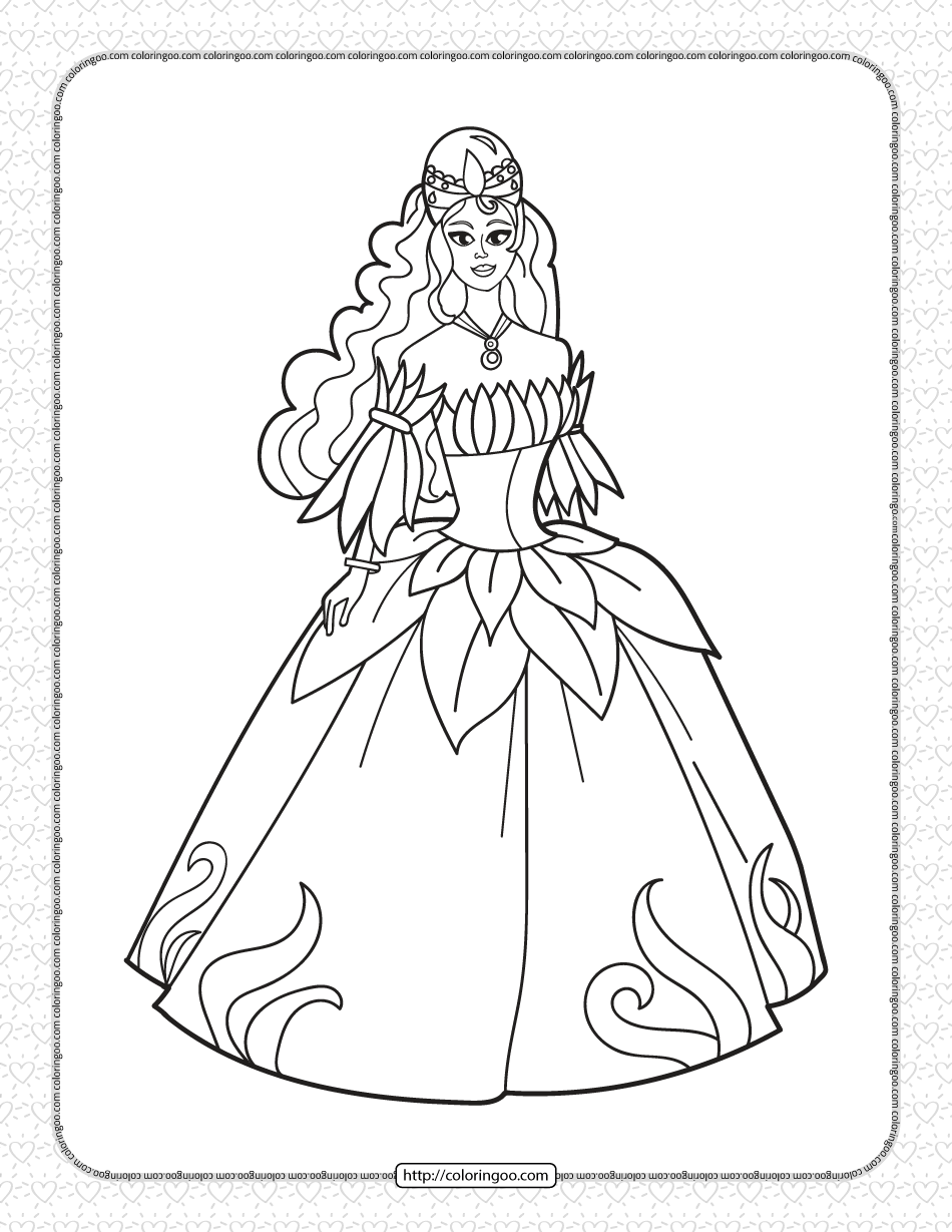 Free Printable Princess Coloring Pages for Kids