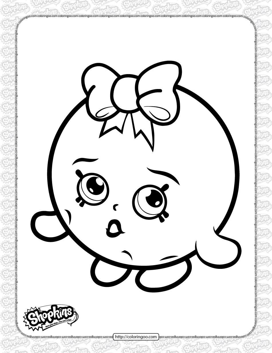 Free Printable Shopkins Bubbles Coloring Page