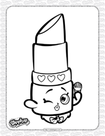 Free Printable Shopkins Lippy Lips Coloring Page