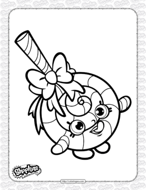 Free Printable Shopkins Lolli Poppins Coloring Page