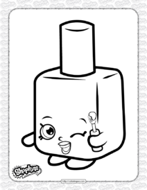 Free Printable Shopkins Polly Polish Coloring Page