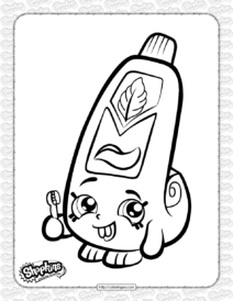 Free Printable Shopkins Scrubs Coloring Page