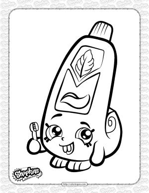 Free Printable Shopkins Scrubs Coloring Page