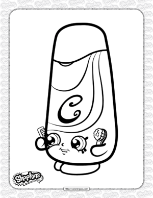 Free Printable Shopkins Silky Coloring Page