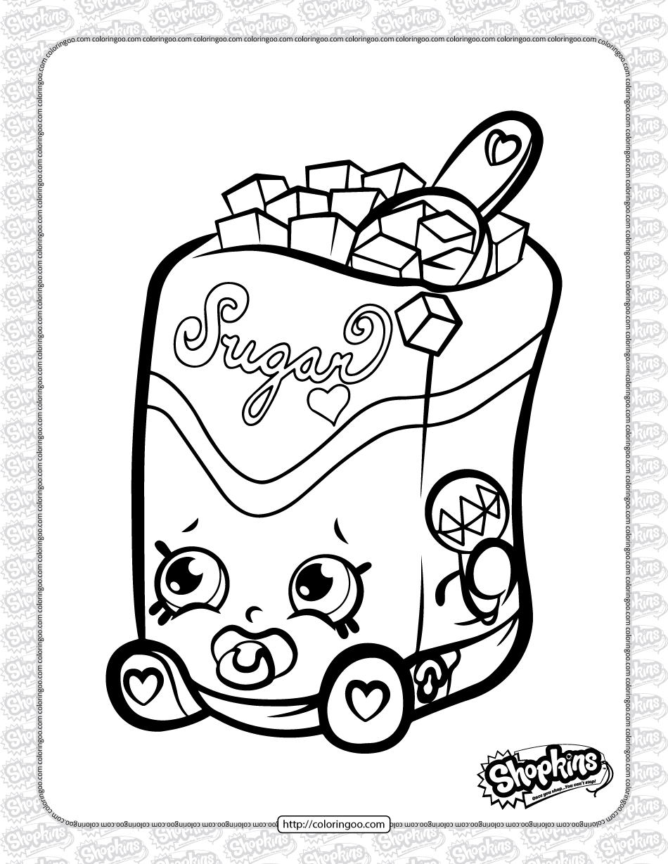 Free Printable Shopkins Sugar Lump Coloring Page