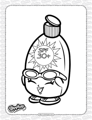 Free Printable Shopkins Sunny Screen Coloring Page