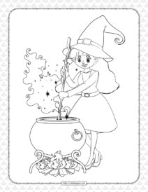 Free Printable Witch Pdf Coloring Pages