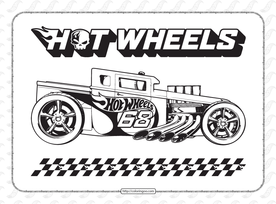 Free Printables Hot Wheels Coloring Pages