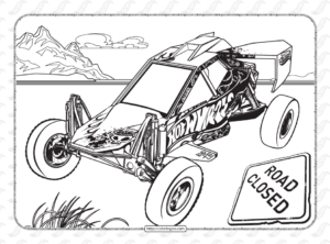 Free Printables Hot Wheels Coloring Sheet