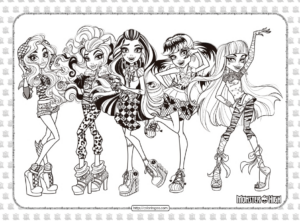 New Printable Monster High Coloring Pages