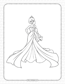 Printable A Beautiful Princess Coloring Page