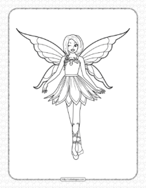Printable Butterfly Winged Fairy Coloring Page