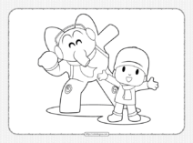 Printable Elly and Pocoyo Coloring Pages