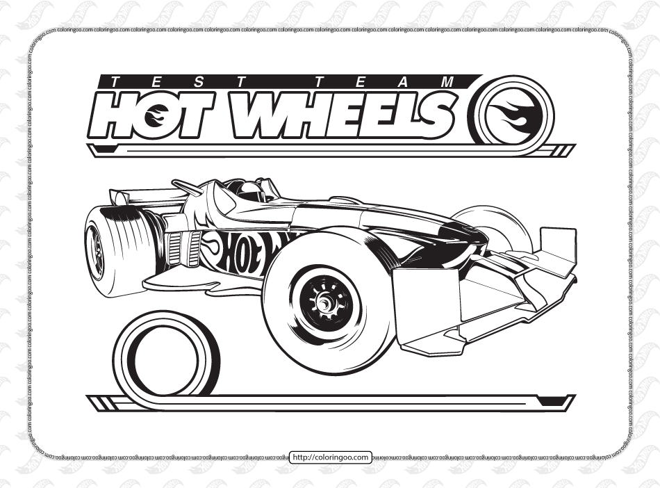 Printable Hot Wheels Coloring Pages for Kids