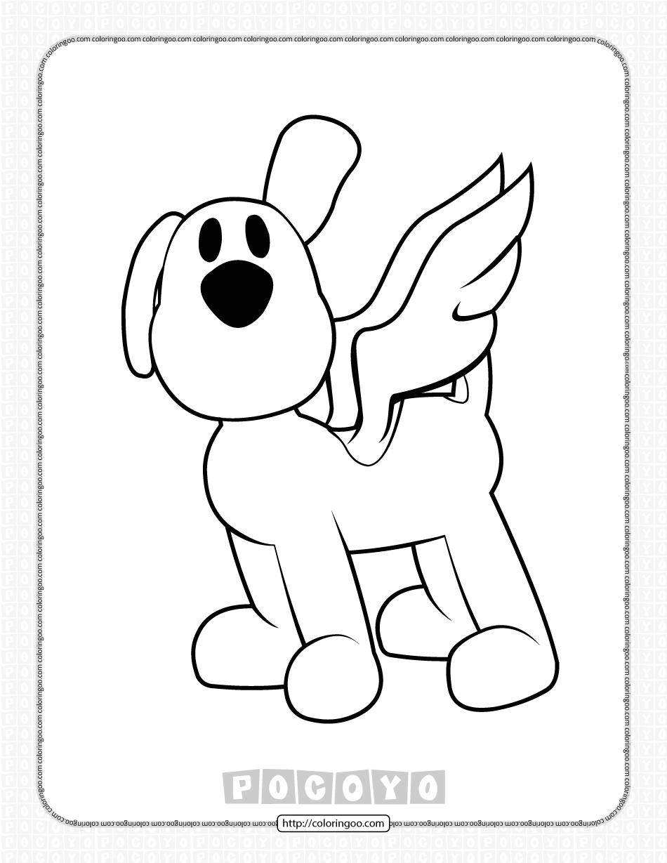 Printable Pocoyo Loula Coloring Pages for Kids