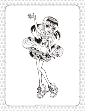 Printable Monster High Draculaura Coloring Page