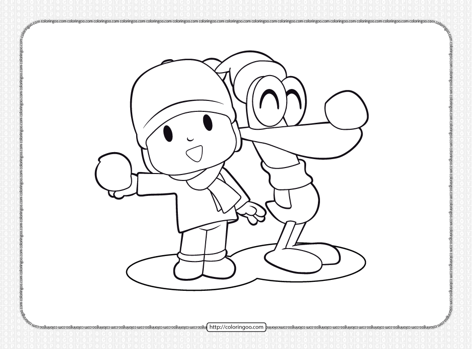 Printable Pocoyo and Pato Coloring Pages