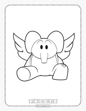 Printable Pocoyo Elly Coloring Pages for Kids