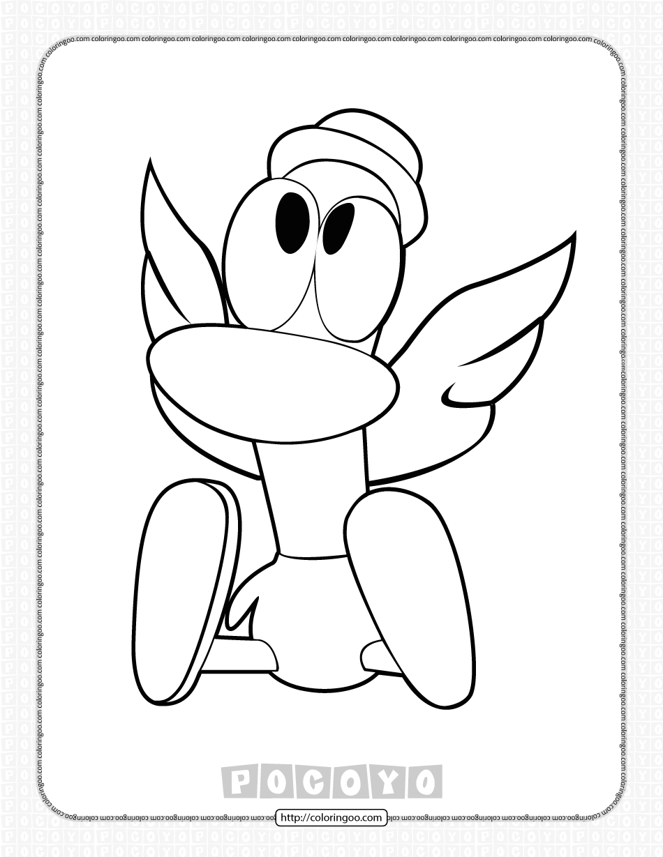 Printable Pocoyo Pato Coloring Pages for Kids