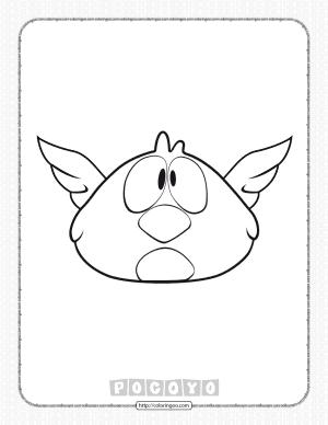 Printable Pocoyo Sleepy Bird Coloring Page