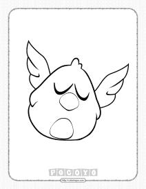 Printable Pocoyo Sleepy Bird Coloring Pages
