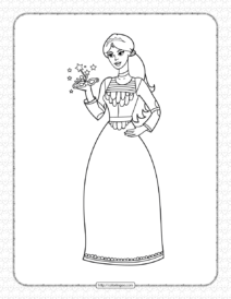 Printable Princess Coloring Page for Girls
