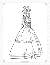 Printable Queen Coloring Pages for Kids