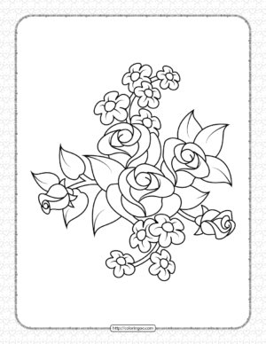 Printable Rose Coloring Pages for Girls