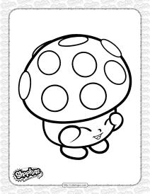 Printable Shopkins Miss Mushy-Moo Coloring Page