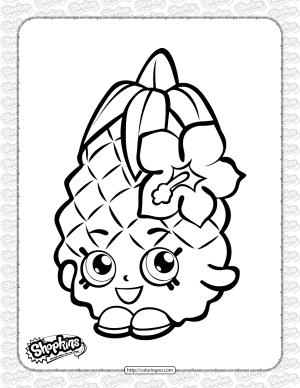 Printable Shopkins Pineapple Crush Coloring Page