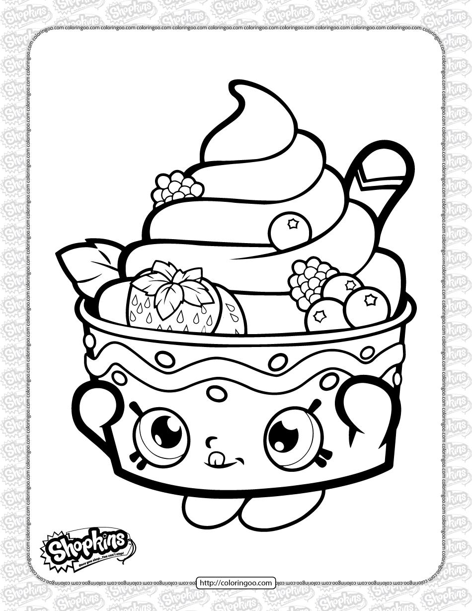 Printable Shopkins Yo-Chi Coloring Page