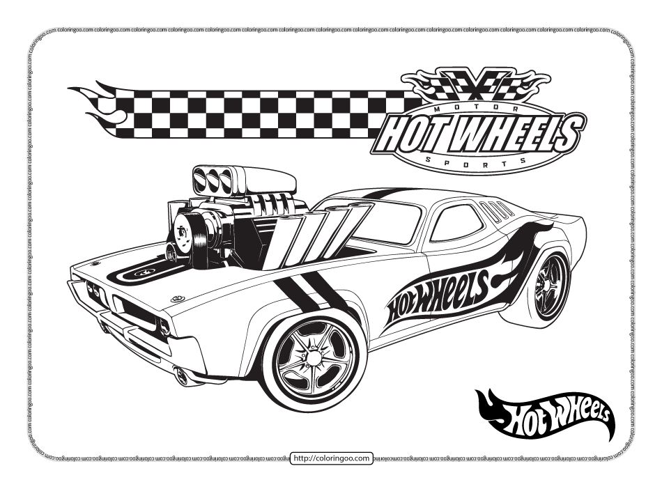 Printables Hot Wheels Pdf Coloring Pages