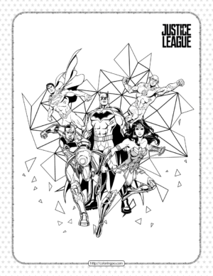 Printables Justice League Coloring Pages for Kids